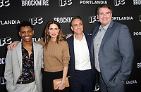 NORTH HOLLYWOOD, CA - MAY 15: Tyrel Jackson Williams, Amanda Peet, Hank Azaria, Joel Church-Cooper, at IFC Hosts &quot;Brockmire&quot; And &quot;Portlandia&quot; EMMY FYC event at Saban Media Center at the Television Academy, Wolf Theatre in North Hollywood, California on May 15, 2018. <br /> CAP/MPIFM<br /> &copy;MPIFM/Capital Pictures