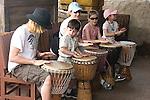 Tourists Playing Drums, Epcot, Orlando, Florida