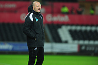 Cameron Toshack Coach of Swansea City U21 during the Checkatrade Trophy match between Swansea City U21 and Bristol Rovers at the Liberty Stadium in Swansea, Wales, UK. Wednesday 05 December 2018