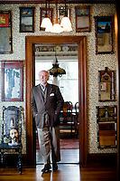 Hillsborough, NC author Allen Gurganus at his historic home.