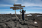 Mt.Kilimanjaro, Tanzania-- July 26 2010-- Razan reaches Uhuru Peak at 5895m.