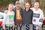 Looking forward to the race at the Charles O'Shea memorial 10k road race in Beaufort on Sunday were Patrick O'Shea, Iveragh, Ger Murphy, Millstreet, John Barrett, Gneeveguilla and John Kissane, Iveragh.