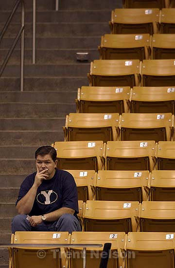BYU basketball fan at the Varisty Preview Saturday night.&amp;#xA;. 11/03/2001, 6:59:06 PM<br />