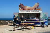 Portugal, Algarve, Cape St Vincent, Cabo de Sao Vicente: Snack Bar, the Last Hot Dog before America