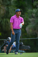 C.T. Pan (TAI) watches his tee shot on 2 during round 4 of The Players Championship, TPC Sawgrass, at Ponte Vedra, Florida, USA. 5/13/2018.<br /> Picture: Golffile | Ken Murray<br /> <br /> <br /> All photo usage must carry mandatory copyright credit (&copy; Golffile | Ken Murray)