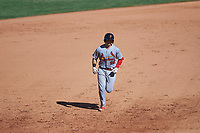 Surprise Saguaros catcher Andrew Knizner (96), of the St. Louis Cardinals organization, rounds the bases after hitting his second home run of the game against the Mesa Solar Sox on October 20, 2017 at Sloan Park in Mesa, Arizona. The Solar Sox walked-off the Saguaros 7-6.  (Zachary Lucy/Four Seam Images)