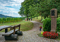Germany, Baden-Wurttemberg, Northern Black Forest, Sasbachwalden: wine village at Baden Wine Route, hiking trail 'Geniesserpfad' at shrine 'Alde Gott' | Deutschland, Baden-Wuerttemberg, Nordschwarzwald, Sasbachwalden im Ortenaukreis: Weinort an der Badischen Weinstrasse gelegen, auf dem Wanderweg 'Geniesserpfad', Rastplatz am Bildstock 'Alde Gott'