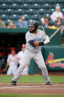 Corpus Christi Hooks first baseman Jon Singleton (21) at bat during a game against the Springfield Cardinals on May 31, 2017 at Hammons Field in Springfield, Missouri.  Springfield defeated Corpus Christi 5-4.  (Mike Janes/Four Seam Images)