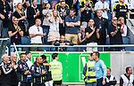 Solna 2014-07-12 Fotboll Allsvenskan AIK - Kalmar FF :  <br /> AIK:s assisterande tr&auml;nare assistant coach Ulf Kristiansson  (l&auml;ngst ner vid r&auml;cket) visades upp p&aring; l&auml;ktaren efter ett br&aring;k i samband med att Kalmars Emin Nouri blir utvisad<br /> (Foto: Kenta J&ouml;nsson) Nyckelord:  AIK Gnaget Friends Arena Kalmar KFF utvisning utvisad utvisas tr&auml;nare manager coach