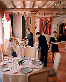 FRANCE, Arbois, interior of the Jean Paul Jeunet Restaurant, Jura Wine Region