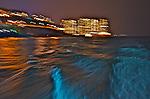 Hong Kong harbour  Lights and waves - Aberdeen Harbour, Hong Kong