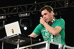 Travis Barker and DJ AM perform live at the 106.7 KROQ Inland Invasion 2005 held at The Hyundai Pavillion in Glen Helen,California on September 17,2005.(Pictured:Travis Barker,DJ AM ).Copyright 2005 by DVS/RockinExposures