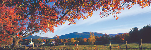 A fall day at Tamworth Village, New Hampshire. Photograph by Peter E. Randall