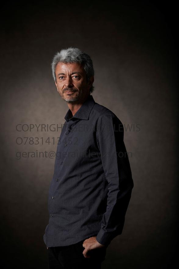 Carlos Gamerro Argentinian novelist   and writer  at The Edinburgh International Book Festival   . Credit Geraint Lewis