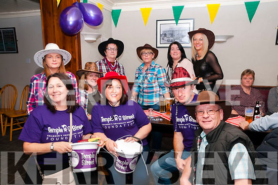 Country & Western Night: Pictured at the Country & Western night at the Railway Bar, Lixnaw in aid of Temple St, Hospital were in front Gemma Griffin, Anna & Monty Boyd & James Conway. Back : Geraldine Fitzgerald, Siobhan Power, Patricia Heffernan, June O'Connor, Yvonne Diggins & Caroline Houlihan