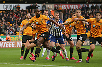 Wolves defending a Alexis Mac Allister of Brighton & Hove Albion free kick during Wolverhampton Wanderers vs Brighton & Hove Albion, Premier League Football at Molineux on 7th March 2020