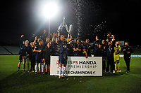 Auckland City celebrates winning the ISPS Handa Premiership football final between Auckland City FC and Team Wellington at QBE Stadium in Albany, New Zealand on Sunday, 1 April 2018. Photo: Dave Lintott / lintottphoto.co.nz