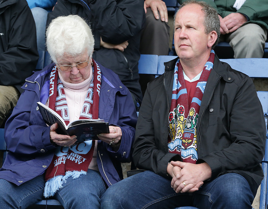 Burnley fans before the kick off<br /> <br /> Photographer Stephen White/CameraSport<br /> <br /> Football - The Football League Sky Bet Championship - Burnley v Sheffield Wednesday - Saturday 12th September 2015 -  Turf Moor - Burnley<br /> <br /> &copy; CameraSport - 43 Linden Ave. Countesthorpe. Leicester. England. LE8 5PG - Tel: +44 (0) 116 277 4147 - admin@camerasport.com - www.camerasport.com
