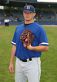 July 14th, 2007:  Shane Mathews of the Aberdeen Ironbirds, Class-A Short-Season affiliate of the Baltimore Orioles, poses for a photo before a game vs the Jamestown Jammers in New York-Penn League action.  Photo Copyright Mike Janes Photography 2007.
