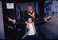 CHICAGO, ILLINOIS - MARCH 6: Portrait of Saxon performing at The Metro in Chicago Illinois on March 6, 1986. <br /> CAP/MPI/GA<br /> &copy;GA/MPI/Capital Pictures