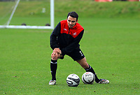 Pictured: Leon Britton. Thursday 01 April 2010<br /> Re: Swansea City Football Club training at Llandarcy near near Swansea south Wales ahead of their clash against Cardiff on Saturday.