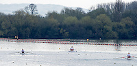 Caversham. Berkshire. UK<br /> Three GBR ASM1Xon the training lake at the  2016 GBRowing, Para Rowing Media Day, UK GBRowing Training base near Reading, Berkshire.<br /> <br /> Friday  15/04/2016<br /> <br /> [Mandatory Credit; Peter SPURRIER/Intersport-images]
