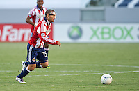 CARSON, CA - April 1, 2012: Alejandro Moreno (15) of Chivas during the Chivas USA vs Sporting KC match at the Home Depot Center in Carson, California. Final score Sporting KC 1, Chivas USA 0.