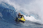 01 October 2004, Lombok, Indonesia --- Professional bodyboarder Jaime Izquierdo of Spain surfs a reef wave, in Indonesia. Photo by Victor Fraile --- Image by © Victor Fraile/Corbis