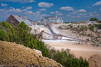 Gypsum Mine near Fredericksburg Texas.