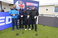 Soren Kjeldsen (DEN) and team members during the Hero Pro-am at the Betfred British Masters, Hillside Golf Club, Lancashire, England. 08/05/2019.<br /> Picture Fran Caffrey / Golffile.ie<br /> <br /> All photo usage must carry mandatory copyright credit (© Golffile | Fran Caffrey)