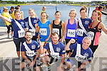 Pictured at the Rose of Tralee International 10k Race in Tralee on Sunday were front l-r: David O'Brien, Roger O'Connor, Aidan O'Brien. Back l-r: Lavinia Prendergast, Aisleen and Leona McInerney, Claire Yildiz, Aileen Galvin, Lesley and Denise Shanahan.