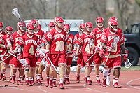 Towson, MD - March 25, 2017: Denver Pioneers takes the field during game between Towson and Denver at  Minnegan Field at Johnny Unitas Stadium  in Towson, MD. March 25, 2017.  (Photo by Elliott Brown/Media Images International)