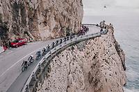 peloton passing the Mediteranian Sea<br /> <br /> 109th Milano-Sanremo 2018<br /> Milano &gt; Sanremo (291km)