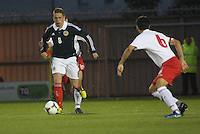 Scott Allan in the Scotland v Luxembourg UEFA Under 21 international qualifying match at St Mirren Park, Paisley on 6.9.12.