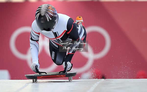 Jane Channell (CAN). Womens Skeleton training. Pyeongchang2018 winter Olympics. Olympic sliding centre. Alpensia. Pyeongchang. Republic of Korea. 07/02/2018. ~ MANDATORY CREDIT Garry Bowden/SIPPA - NO UNAUTHORISED USE - +44 7837 394578