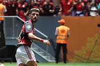 Brasília (DF), 16/02/2020 - Jogadores do Flamengo comemora gol de Arrascaeta. Partida entre Flamengo e Athletico Paranaense pela Supercopa no estádio Mané Garrincha em Brasília, neste domingo (16).