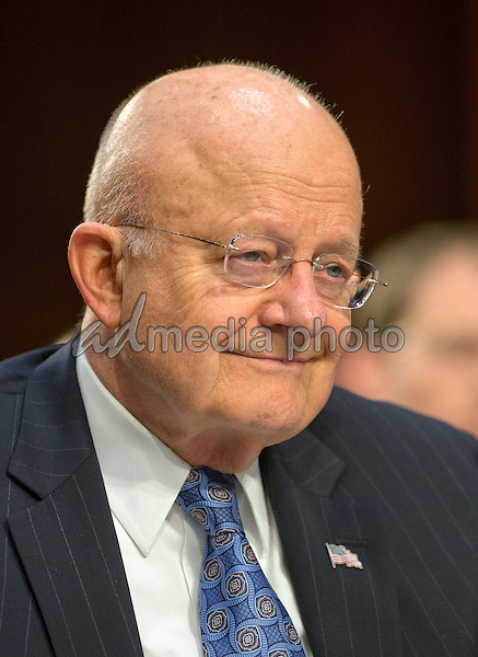 FDirector James Clapper, Director of National Intelligence (DNI) testifies during an open hearing held by the US Senate Select Committee on Intelligence to examine worldwide threats on Capitol Hill in Washington, DC on Tuesday, February 9, 2016. Photo Credit: Ron Sachs/CNP/AdMedia
