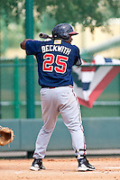 William Beckwith of the Gulf Coast League Braves during the game against the Gulf Coast League Tigers July 3 2010 at the Disney Wide World of Sports in Orlando, Florida.  Photo By Scott Jontes/Four Seam Images