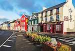 An early morning view of Strand Street, Dingle, Ireland, on Dingle's waterfront.