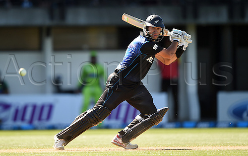03.02.2015. Napier, New Zealand.  Ross Taylor batting. ANZ One Day International Cricket Series. Match 2 between New Zealand Black Caps and Pakistan at McLean Park in Napier, New Zealand.