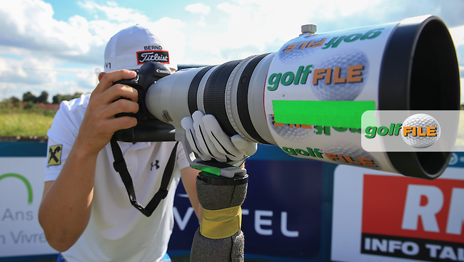 Bernd Wiesberger (AUT) becomes the next generation of Golffile photographers, during the preview days of the 100th Open de France, played at Le Golf National, Guyancourt, Paris, France. 28/06/2016. Picture: David Lloyd | Golffile.<br /> <br /> All photos usage must carry mandatory copyright credit (&copy; Golffile | David Lloyd)