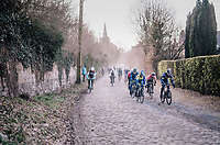 peloton passage<br /> <br /> 50th GP Samyn 2018<br /> Quaregnon > Dour: 200km (BELGIUM)