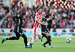 Stoke's Joe Allen in action during the premier league match at the Britannia Stadium, Stoke on Trent. Picture date 9th September 2017. Picture credit should read: David Klein/Sportimage