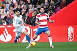"""Granada CF's Joaquin Marin """"Quini"""" and Real Club Deportivo Borja Valle de la Coruña's  during La Liga 2 match. February 10,2019. (ALTERPHOTOS/Alconada)"""