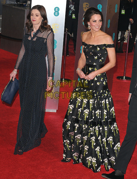 Amanda Berry and HRH Kate, Duchess of Cambridge at the EE British Academy Film Awards (BAFTAs) 2017, Royal Albert Hall, Kensington Gore, London, England, UK, on Sunday 12 February 2017.<br /> CAP/CAN<br /> &copy;CAN/Capital Pictures