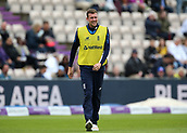 29th September 2017, Ageas Bowl, Southampton, England; One Day International Series, England versus West Indies; Jake Ball of Englan during a football warm up