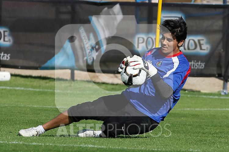 Getafe's Oscar Ustari during training sesion.August 6 2009. (ALTERPHOTOS/Acero).