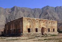Oman, Musandam-Halbinsel, Gebäude in Bukha