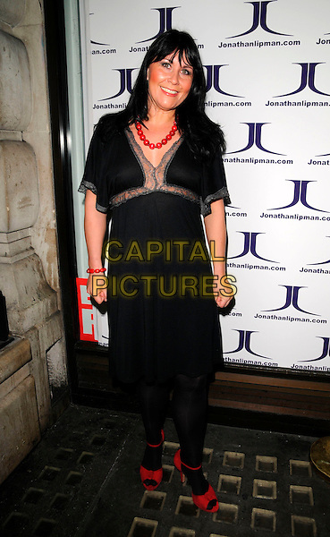 ZOE TYLER.The Paper Club Brit Awards afterparty, 68 Regent Street, London, England..February 20th, 2008.after party brits full length black dress red shoes.CAP/CAN.©Can Nguyen/Capital Pictures.