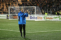 Maidstone United Manager, Harry Wheeler, applauds the home fans at the end of the match during Maidstone United vs Wrexham, Vanarama National League Football at the Gallagher Stadium on 17th November 2018